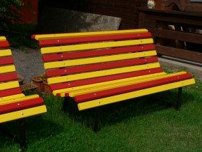 retro styl červeno/žlutá