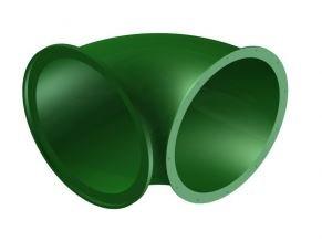 Náhradní díl na tobogán zelený 90° .