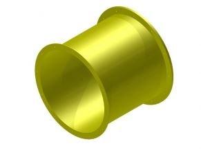 Náhradní díl na tobogán rovný 75 cm žlutý .