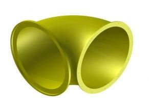 Náhradní díl na tobogán žlutý 30° .