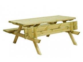 Impregnovaný piknikový stůl malý 150x132x73,5 cm pro děti 3 - 7 let