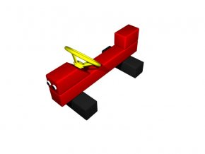 Hravé lavičky - Monkey´s Auto malé barvené .