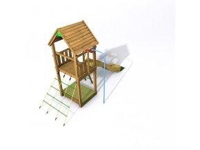 DĚTSKÉ HŘIŠTĚ Monkey´s Home EKO-LINE HANSEL PLUS 130x110x330