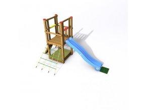 DĚTSKÉ HŘIŠTĚ Monkey´s Home EKO-LINE TURRET PLUS 110X110X240cm