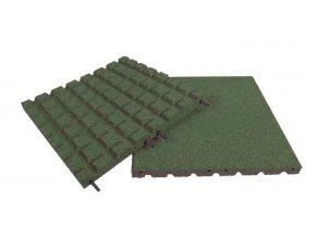 Pryžová deska 1x1m zelená - výška pádu 1m .