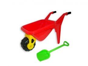 Dětské plastové kolečko Zahradník s plastovou lopatkou .