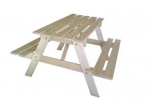 Dětský dřevěný piknikový stůl velký 90x90x50cm