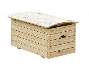Dřevěná truhla na hračky 50x81x47cm