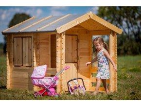 Dětský dřevěný domek M501 175x130x145cm