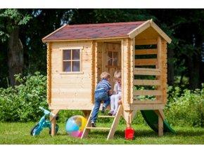 Dětský dřevěný domek M501C 175x130x205cm