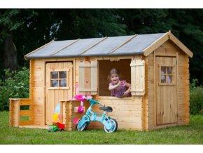 Dětský dřevěný domek M503 235x175x151cm