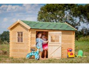Dětský dřevěný domek M503A 235x175x151cm