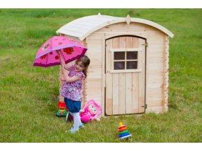 Dětský dřevěný domek M505 105x130x145cm