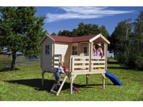 Dětský dřevěný domek M508 237x192x230cm