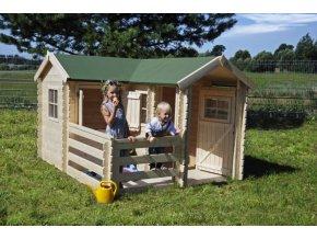 Dětský dřevěný domek M509 237x192x155cm