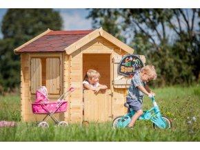 Dětský dřevěný domek M516 105x130x145cm