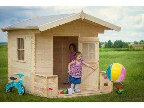 Dětský dřevěný domek M517 180x180x189cm