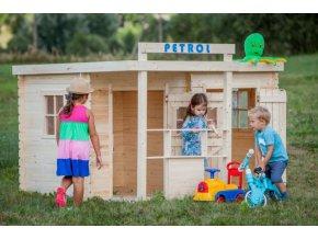 Dětský dřevěný domek M518 238x214x131cm