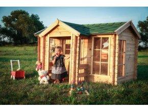 Dětský dřevěný domek M520 235x175x151cm