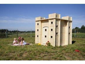 Dětský dřevěný hrad M522 192x192x201cm