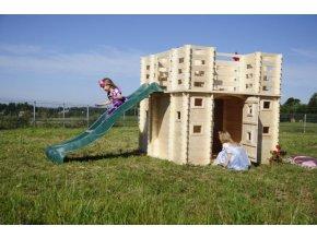 Dětský dřevěný hrad M523 192x192x193cm
