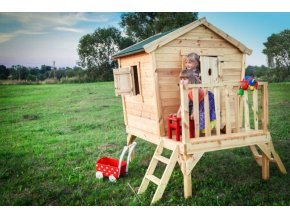 Dětský dřevěný domek M540A 179x135x201cm