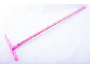 Dětské nářadí HRÁBĚ plastové růžové .
