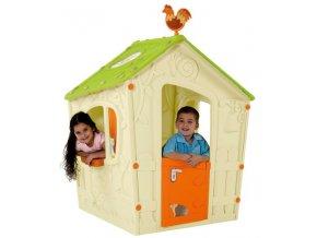 MAGIC PLAY HOUSE domeček - béžový .