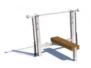 Workoutový prvek - Monkey's Bench lavice .