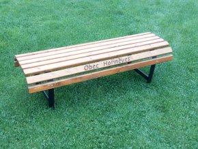 Zahradní lavička masiv bez opěradla