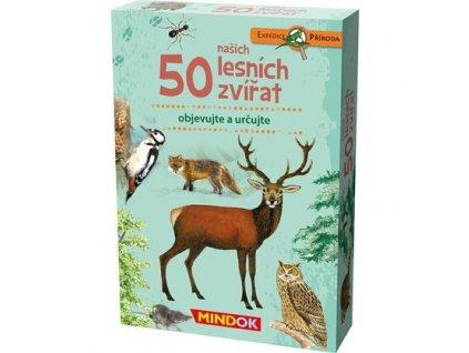 312 mindok expedice priroda 50 lesnich zviratek predni krabice