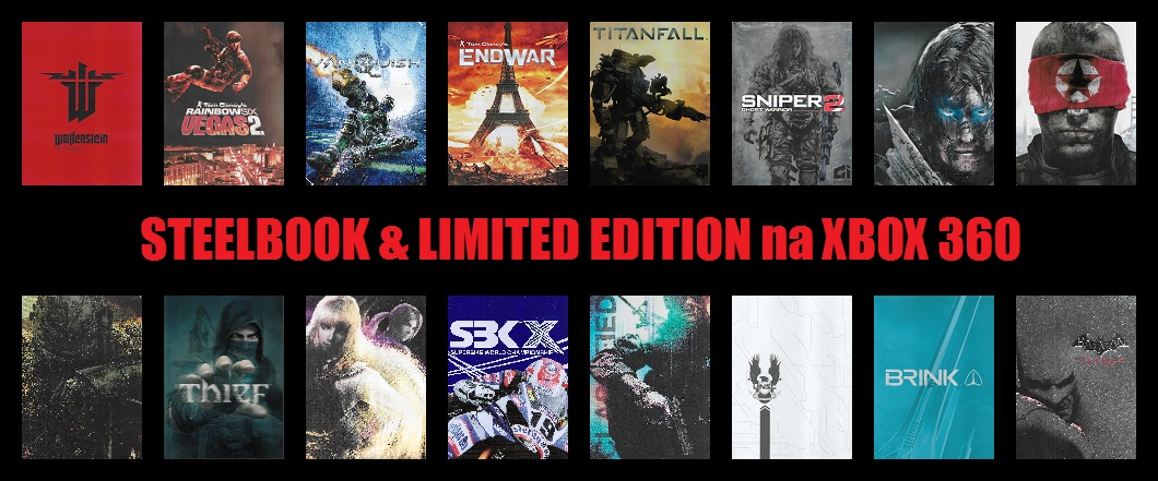 STEELBOOK & LIMITED EDITION na XBOX 360