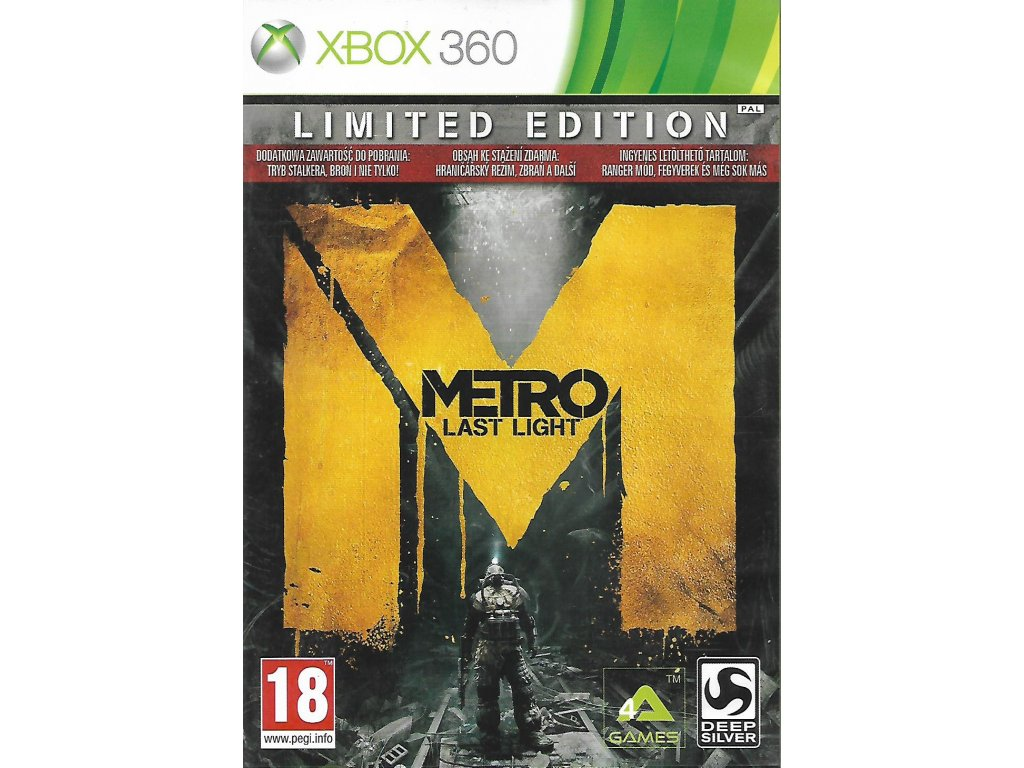 METRO LAST LIGHT (XBOX 360 bazar)