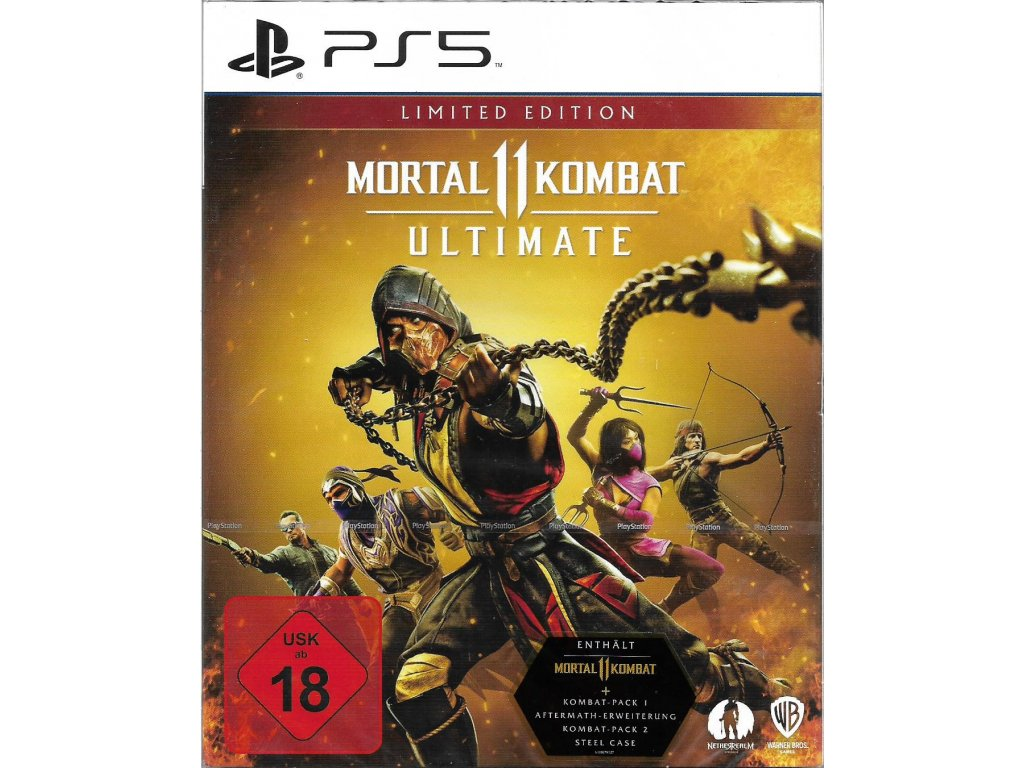 MORTAL KOMBAT 11 ULTIMATE STEELBOOK EDITION (PS5 nová)