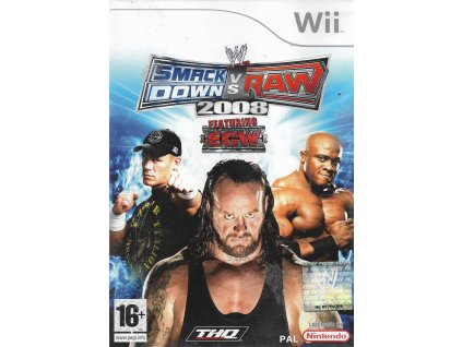 WWE SMACKDOWN VS RAW 2008 (WII BAZAR)
