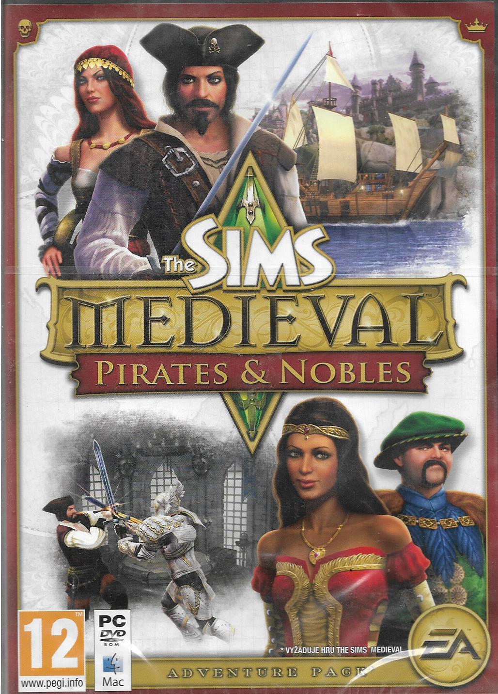 THE SIMS MEDIEVAL - PIRATES & NOBLE (PC - nová)