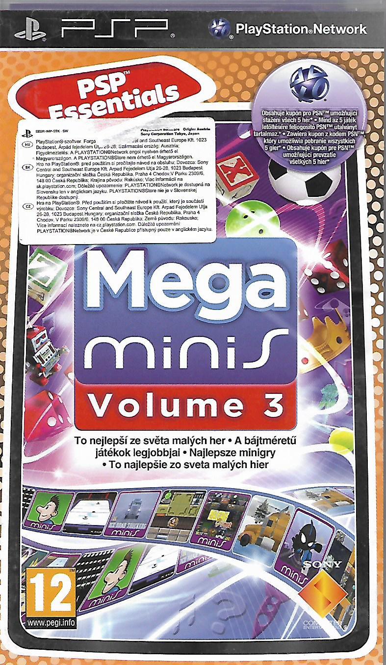 MEGA MINIS VOLUME 3 (PSP - bazar)