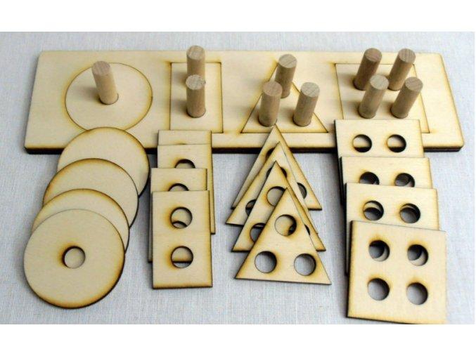 Skládačka tvary s kolíčky