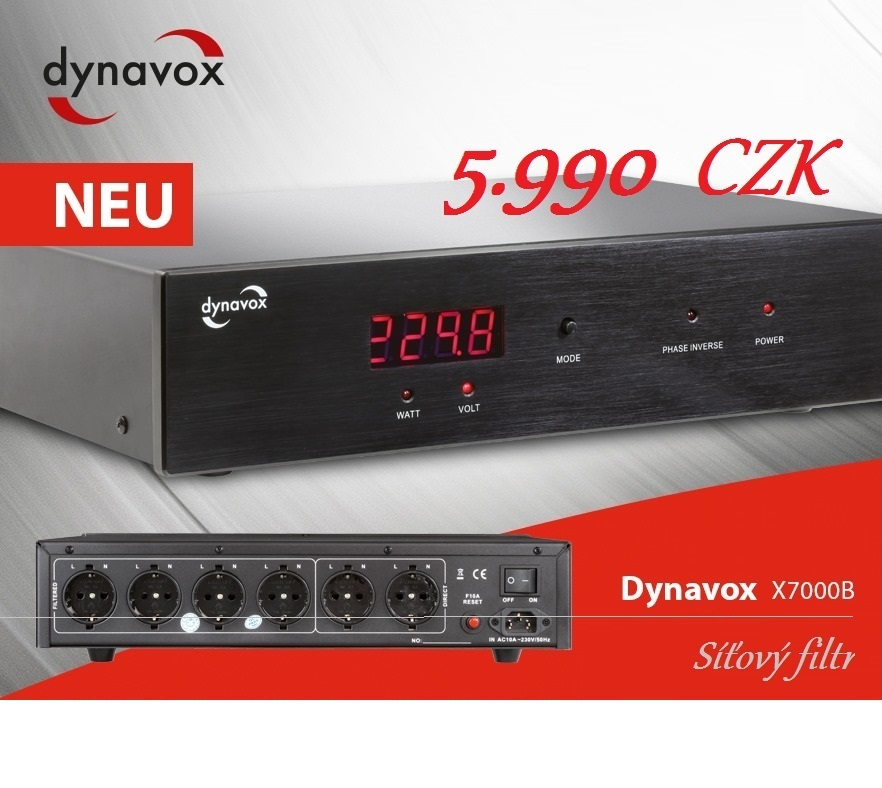 Dynavox síťový filtr X7000 je nástupce široce oceňovaného a úspěšného modelu X6000.