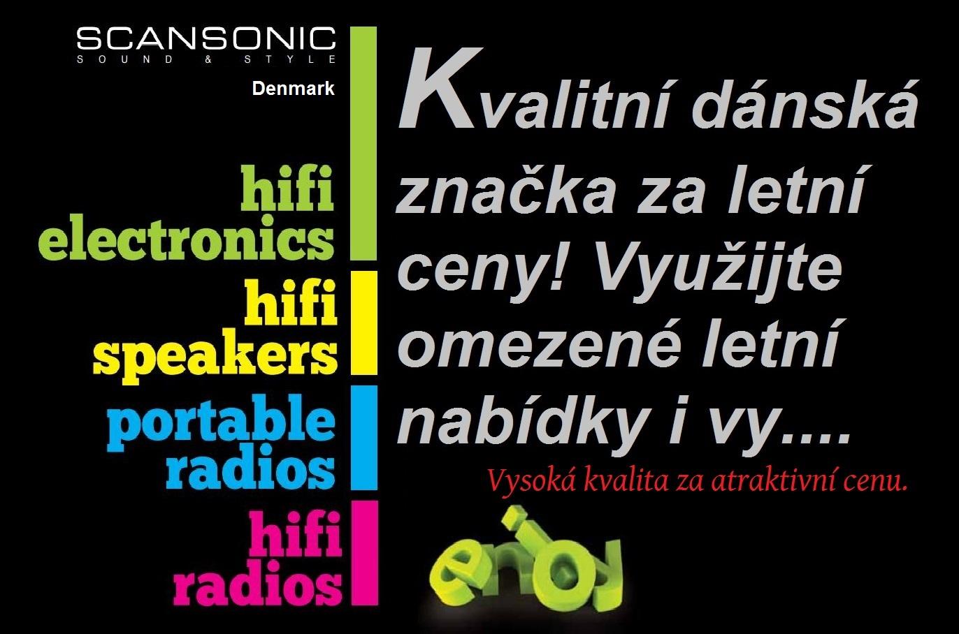 Vysoká zvuková kvalita a design ! To je dánská značka Scansonic v letních slevách...