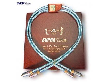 SUPRA SWORD ISL Anniversary RCA  Výkon kabelu Sword ve vztahu k ceně je nepřekonatelný.