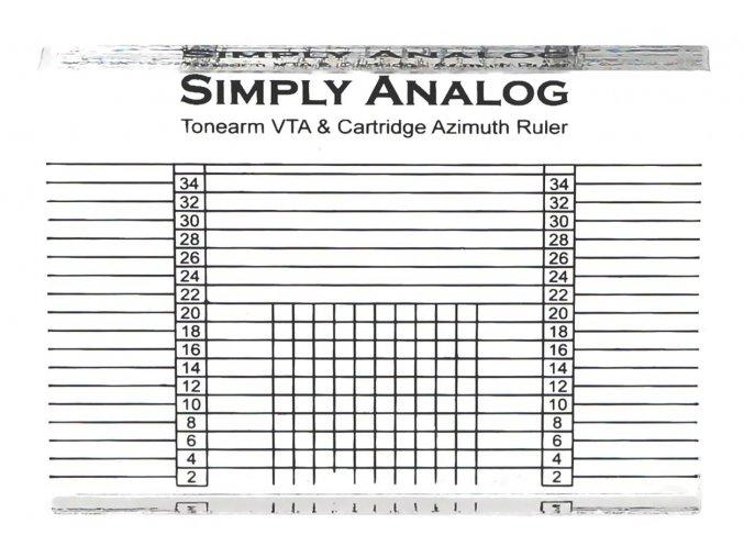 Simply Analog - Tonearm VTA & Cartridge Azimuth Ruler