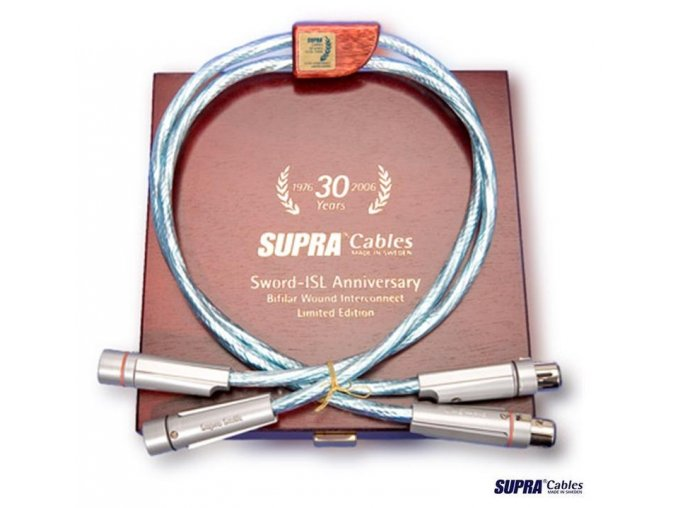 SUPRA SWORD ISL Anniversary XLR  Výkon kabelu Sword ve vztahu k ceně je nepřekonatelný.