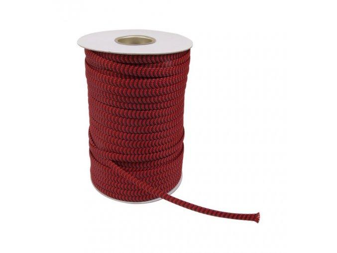 elecaudio nr 10 red braided sleeve nylon pp 07 15mm