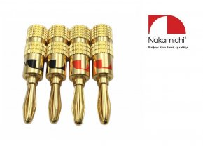 Nakamichi - Banana Plugs N0534B - Gold