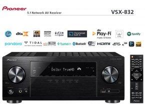 Pioneer VSX 832 černé provedení