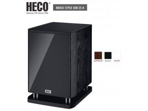 Heco Music Style SUB 25A Black