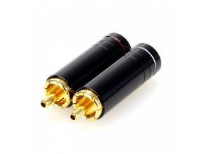 elecaudio te rc90g connecteurs rca cuivre tellurium plaque gold o 85mm la paire