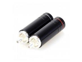 elecaudio te rc90s connecteurs rca cuivre tellurium plaque silver o 85mm la paire