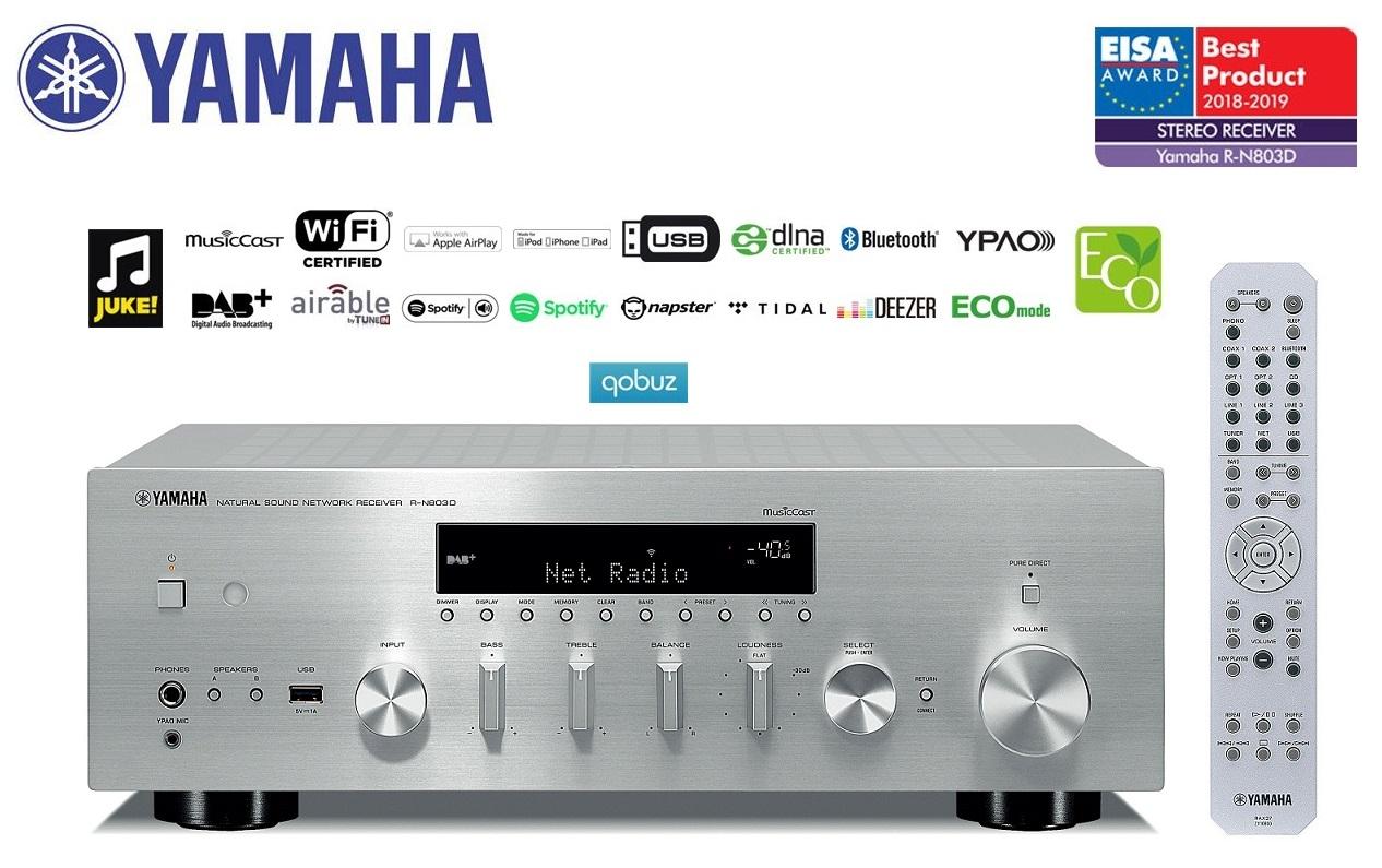 Yamaha R-N803D *EISA 2018-2019* Barevné provedení: stříbrné - silver